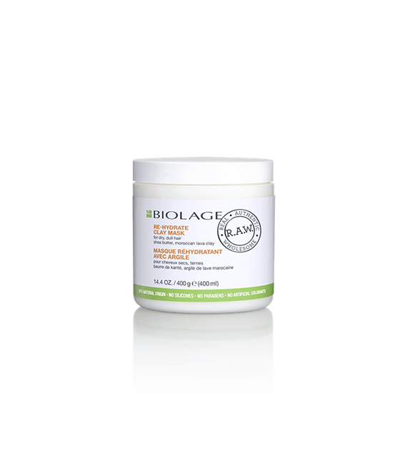 Matrix Biolage R.A.W Mascarilla de Arcilla Re-Hydrate 400 ml.