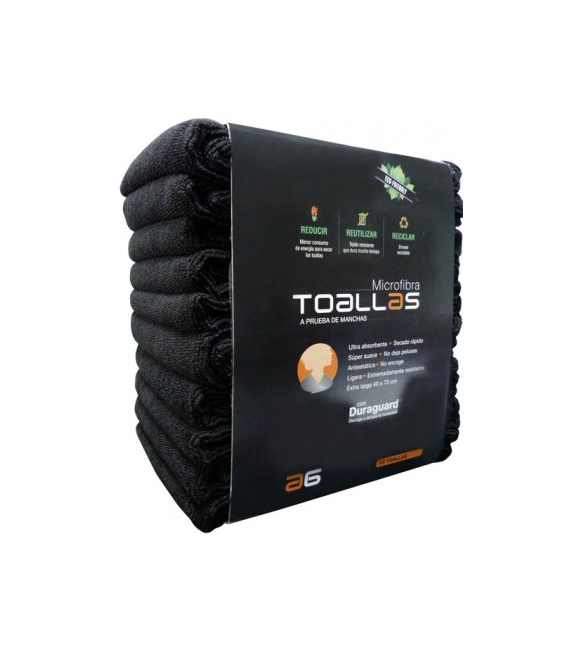 AG Pack 10 Toallas Microfibra