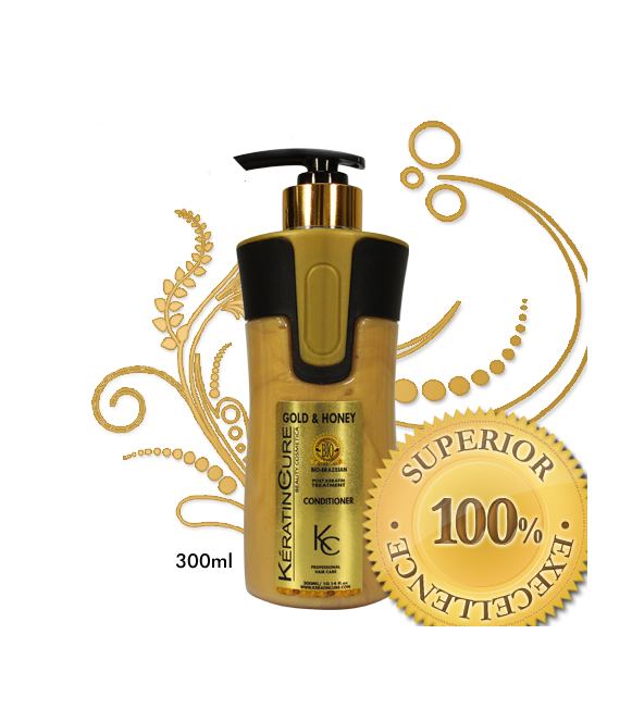 Keratin Cure Oro & Miel Post-Acondicionador 300 ml.